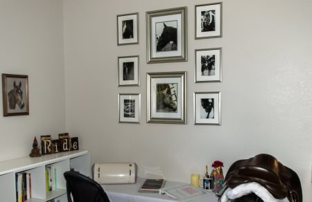 Creating an equestrian themed photo gallery wall