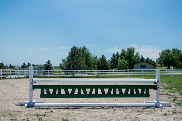 homemade gate for a horse jump