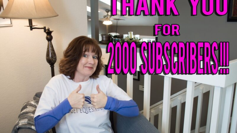 Thank you 2000 YouTube Scubscribers