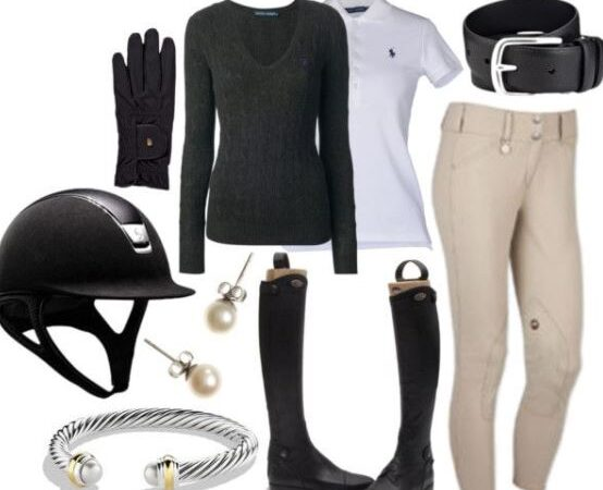 equestrian summer riding outfit