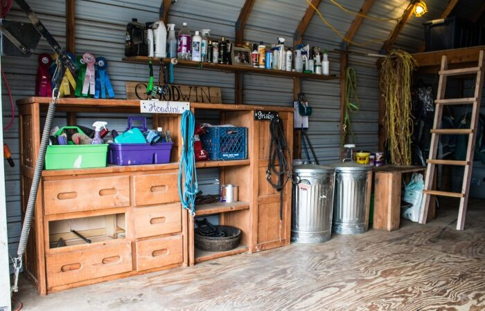 a small barn all clean and tidy