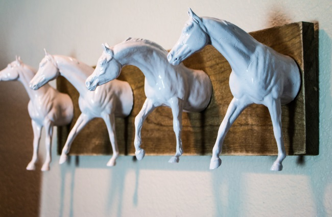 Make Wall Art With Breyer Model Horses