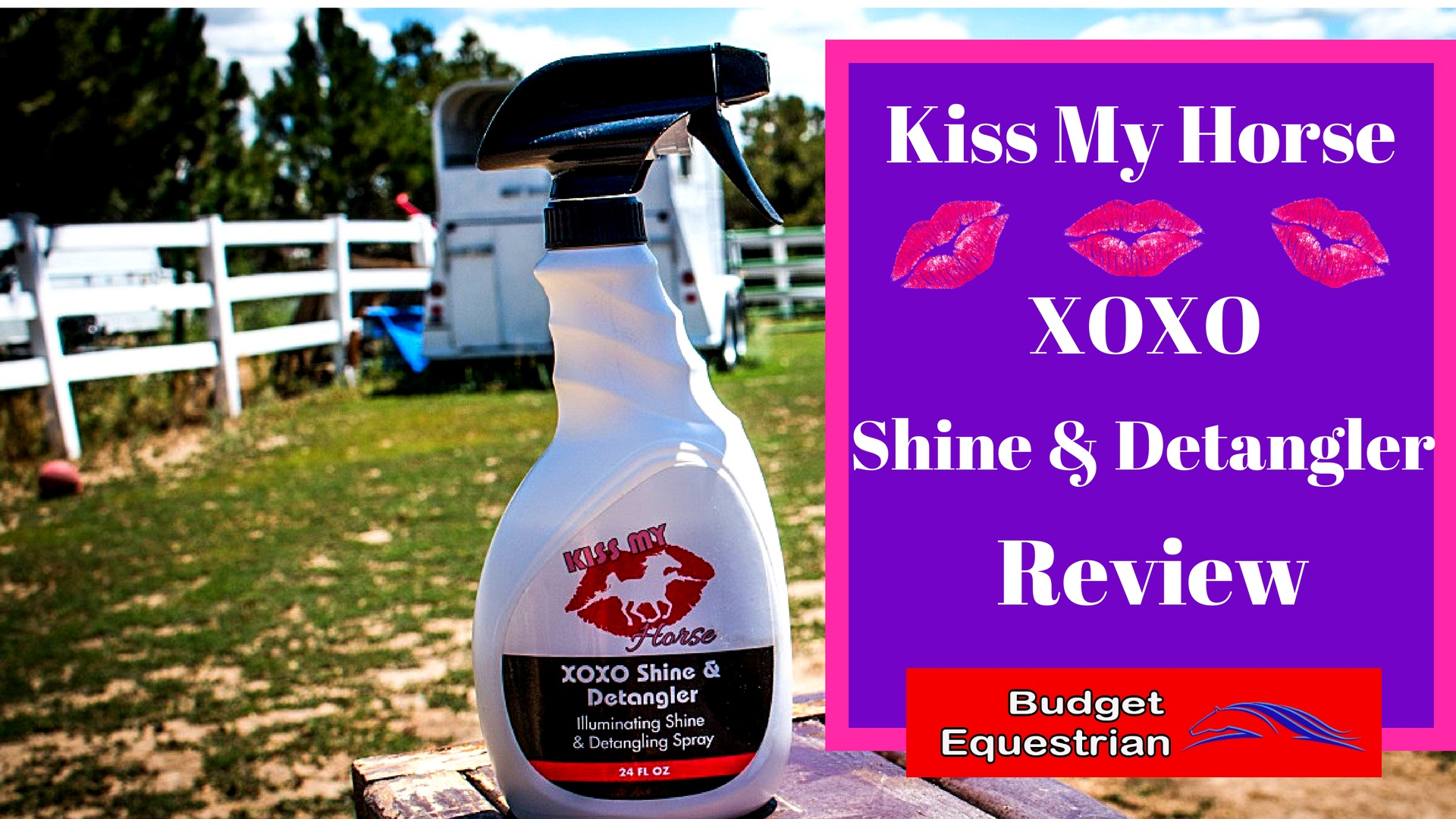 Kiss My Horse XOXO Detangler and Shine Review