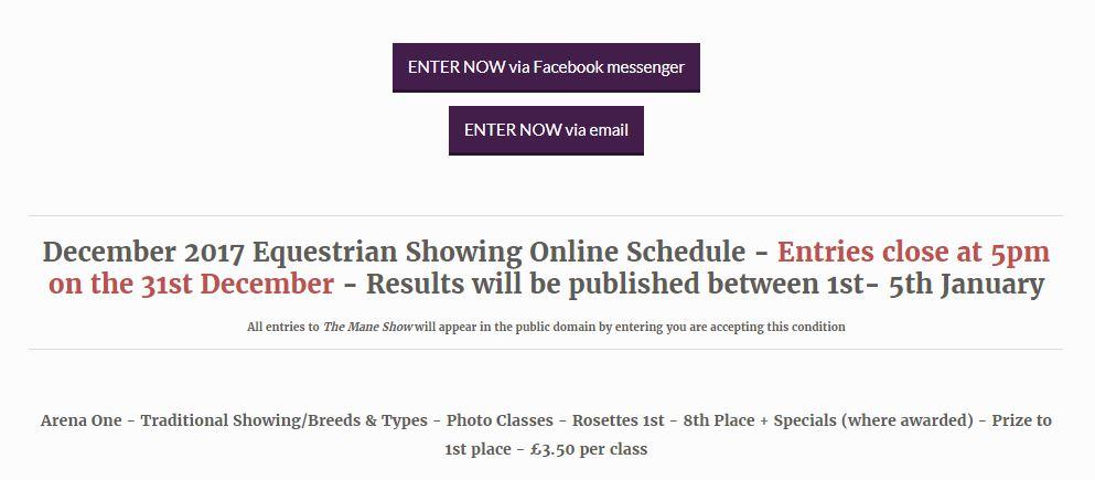 showing horses online