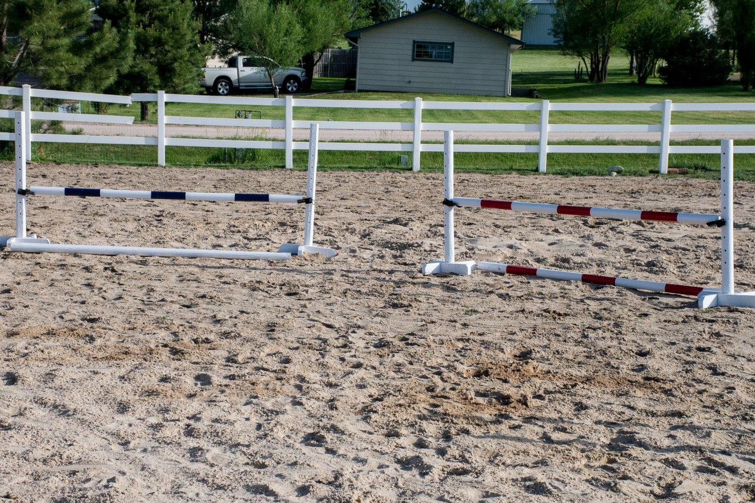 how to diy horse jumps