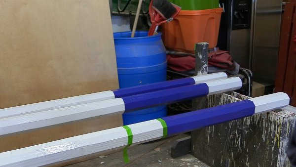 painting horse jump rails