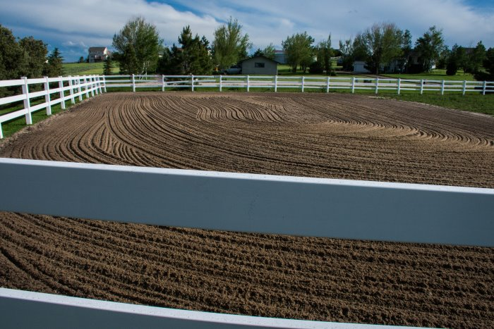 how to build a riding arena on a budget