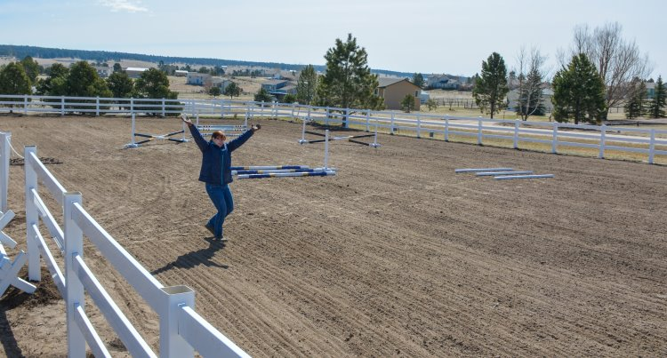 how to diy a riding arena