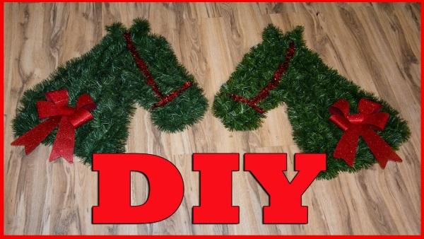 how to make a horse head christmas wreath