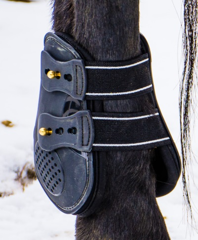 close up of an ankle boot for horses