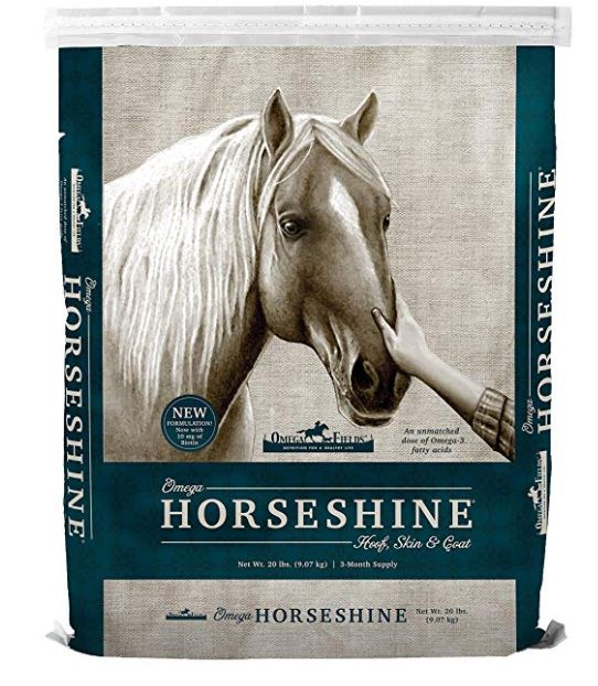 horse shine by omega fields horse coat supplement 20 lb bag