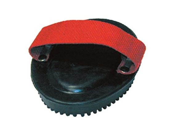 rubber curry comb with web hand strap