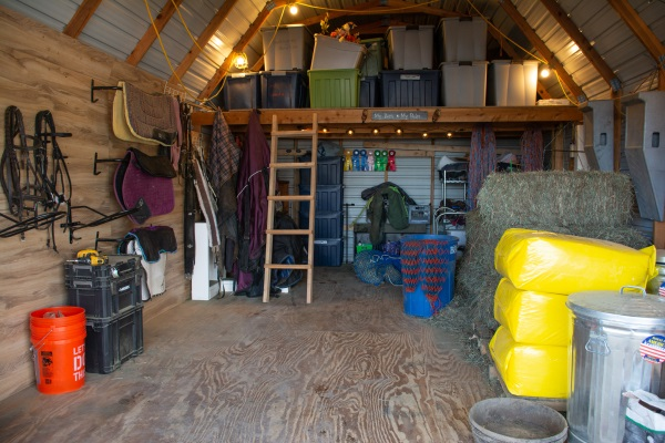 small tack room makeover after photo