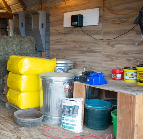 a small feed room