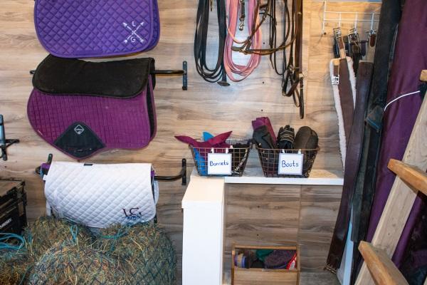 an organized tack room