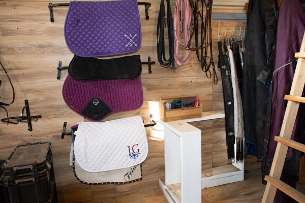 a small tack room