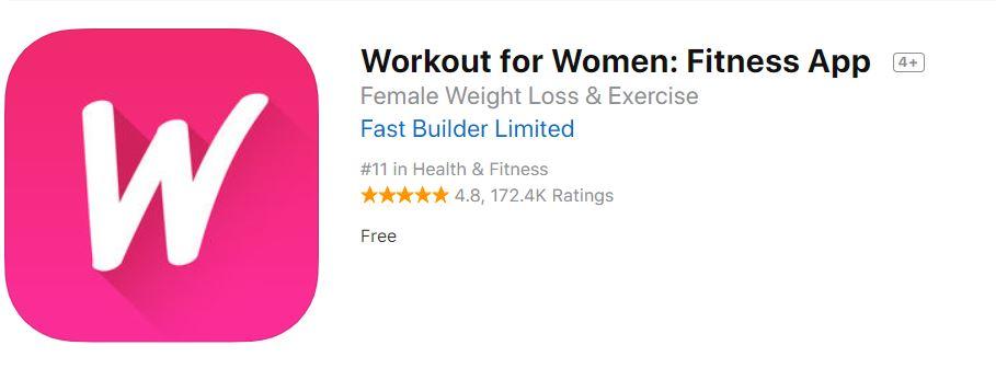 workout for women app logo