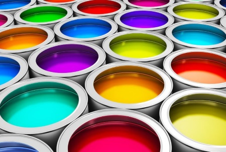 different colors of paint
