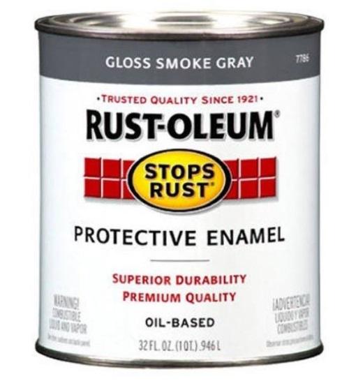 rustoleum gray oil based paint