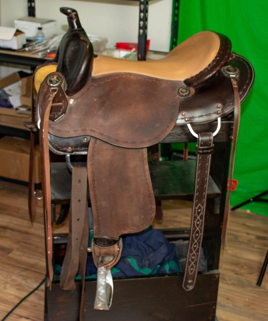 a western saddle