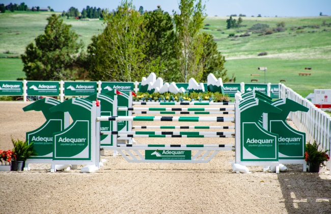 Adequan sponsored jump at the Colorado Horse park