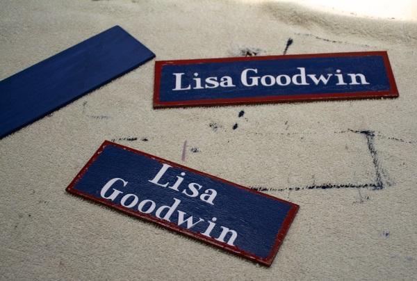 homemade name plaques