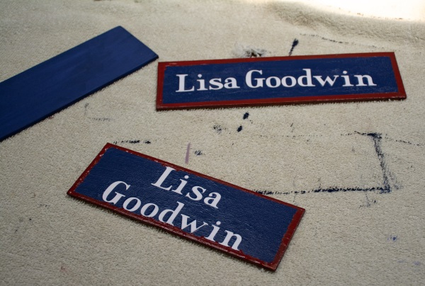 homemade name plaques