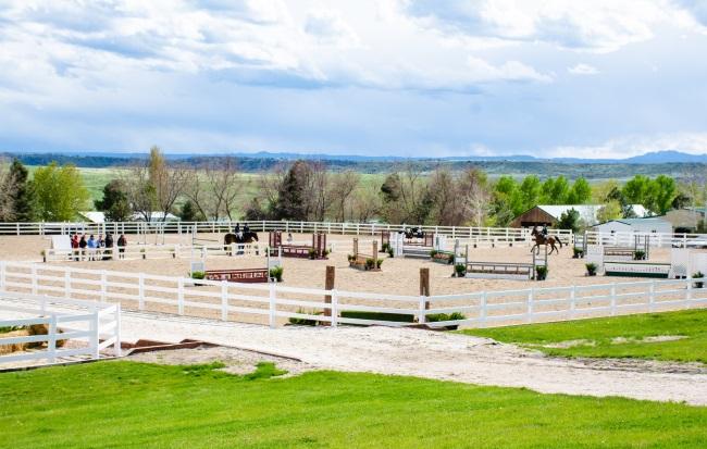 hunter course at the Colorado Horse Park