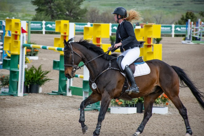 the winner of the $25,000 Grand Prix  at the Colorado Horse park Spring series week 2