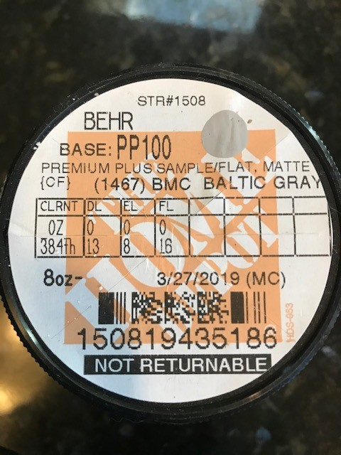 paint color sample baltic gray