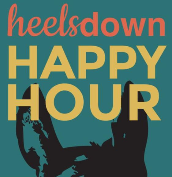 heels down happy hour podcast logo