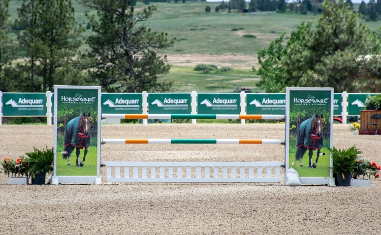 professionally made horse jump in a horse show