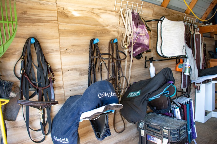 a small tack room