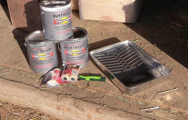 Rustoleum paint and painting supplies
