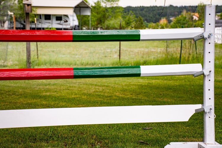 homemade horse jump rails and planks
