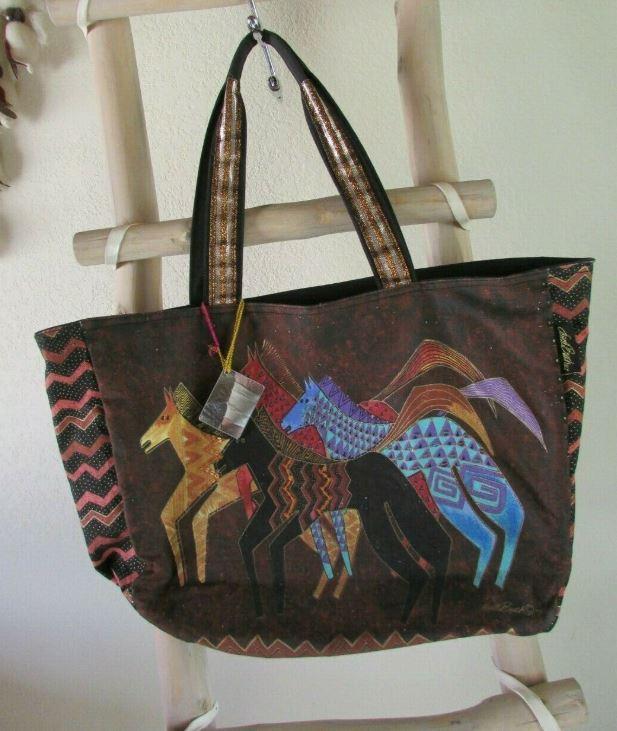 Laurel Burch tote with horses