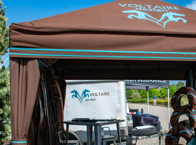 Voltaire design booth at a horse show