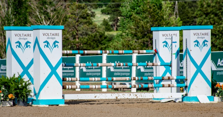 voltaire-design jump set up at a horse show