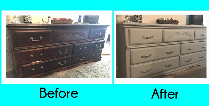 before and after photos of furniture makeover