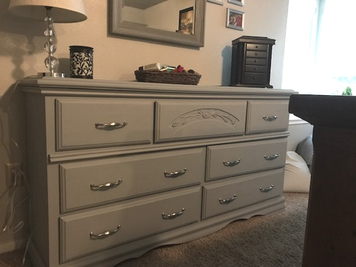 repainted dresser with chalk paint
