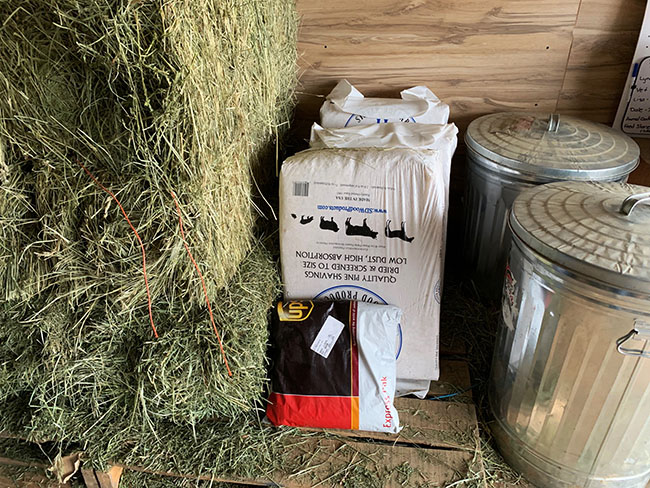 a package in a tack room