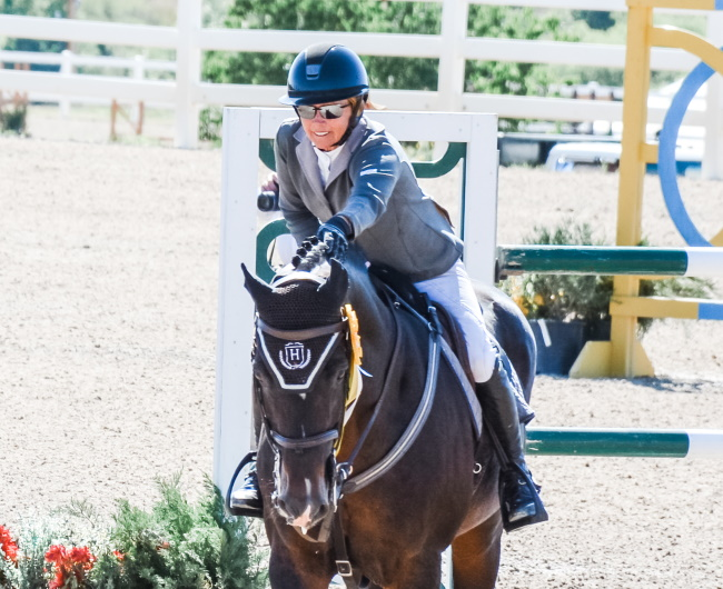Horse show rider at the Colorado Horse Park
