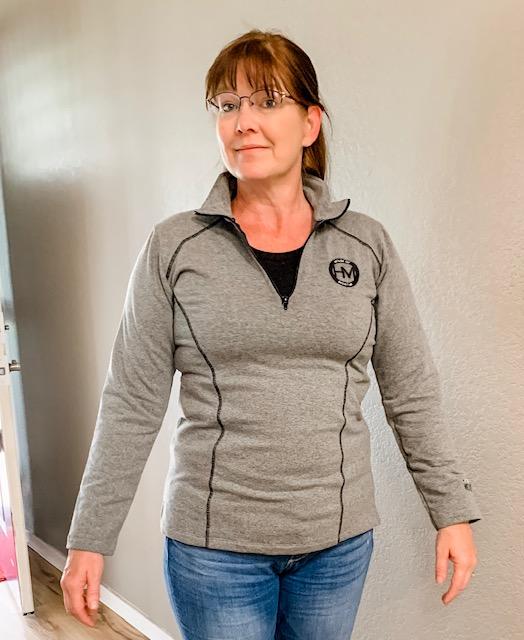 Montar ladies 1/4 zip sweatshirt