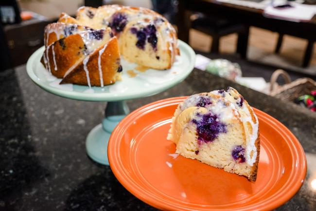 Blueberry Lemon Cream Cheese Bundt Cake with Glaze