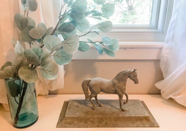 DIY Concrete Equestrian Statue