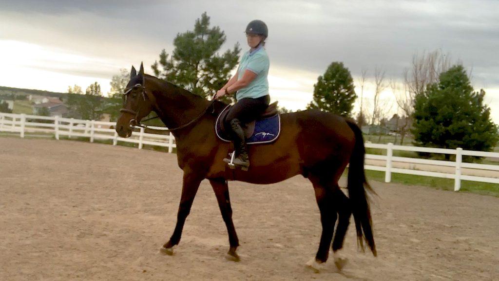 riding a horse English