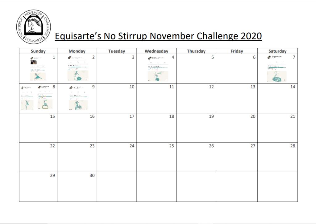 No Stirrup November – Working Through No Stirrup Rides