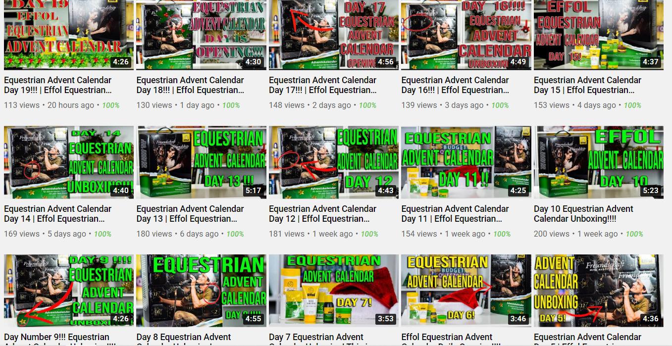 Effol Advent Calendar Unboxing Videos